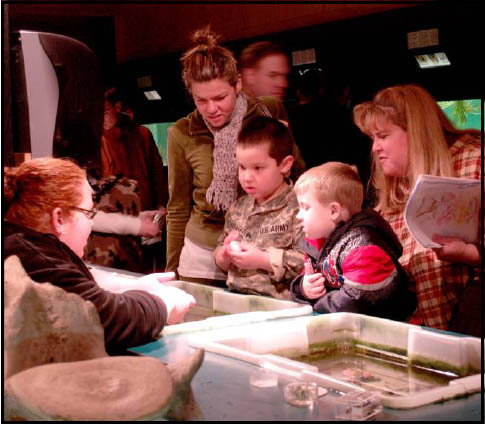 Family at the Touch Tank