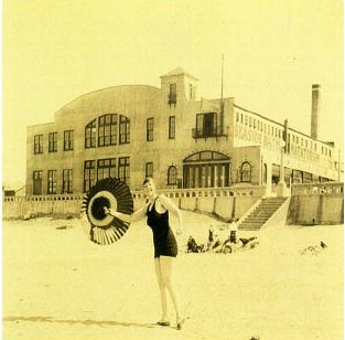 Lillian Viggers advertises the newly opened Seaside Baths Natatorium, 1924. Photo courtesy of Susan Cagnolatti